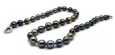 17.5 pulgadas Multicolor 8-11mm Calidad Barroco Collar de Perlas Tahití y Plata esterlina 925