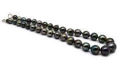 17.5 pulgadas Multicolor 10-14mm Calidad Barroco Collar de Perlas Tahití y Plata esterlina 925