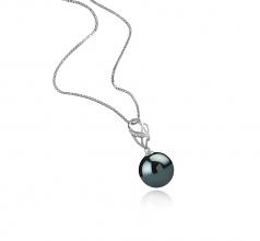 Moira Negro 11-12mm Calidad AAA Colgante de Perla Tahití y Plata esterlina 925