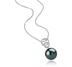 Marlo Negro 12-13mm Calidad AAA Colgante de Perla Tahití y Plata esterlina 925