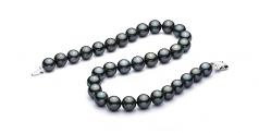 18'' Negro 12-12.93mm Calidad AAA Collar de Perlas Tahití y Oro blanco 14K