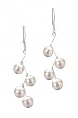 Mickey Blanco 6-7mm Calidad AA Pendientes de Perlas de Agua Dulce y Plata esterlina 925
