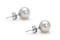 Blanco 7-8mm Calidad AAAA Pendientes de Perlas de Agua Dulce y Plata esterlina 925