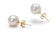 Blanco 7-8mm Calidad AAAA Pendientes de Perlas de Agua Dulce