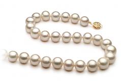 Blanco 10-11mm Calidad AA Collar de Perlas de Agua Dulce