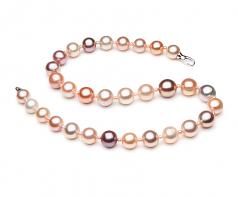 Multicolor 3-14mm Calidad AA+ Collar de Perlas de Agua Dulce y sin tipo de metal