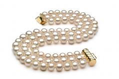 Lucille Blanco 6-7mm Calidad AA Conjunto de Perlas de Agua Dulce