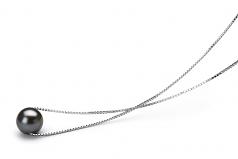Madison Negro 8-9mm Calidad AA Colgante de Perla de Agua Dulce y Plata esterlina 925
