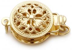 18 pulgadas Oro 9.6-12.6mm Calidad AA+ Collar de PerlasMar del Sur y Oro amarillo 14K