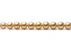 18 pulgadas Oro 9.5-11.9mm Calidad AA Collar de PerlasMar del Sur y Oro amarillo 14K