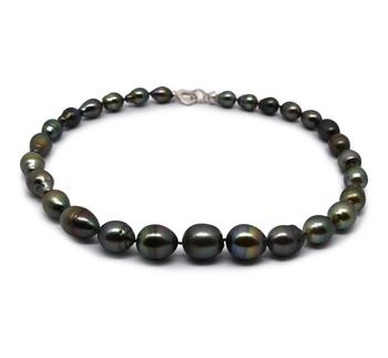 17 pulgadas Multicolor 9-13mm Calidad Barroco Collar de Perlas Tahití y Plata esterlina 925