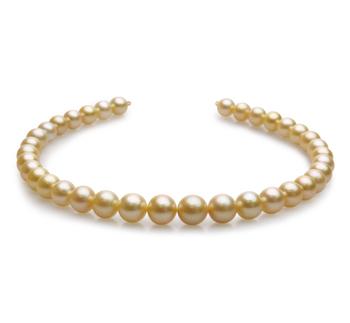 18 pulgadas Oro 10-13.5mm Calidad AAA Collar de PerlasMar del Sur y Oro amarillo 14K
