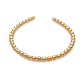 18 pulgadas Oro 9-11.4mm Calidad AA Collar de PerlasMar del Sur y Oro amarillo 14K