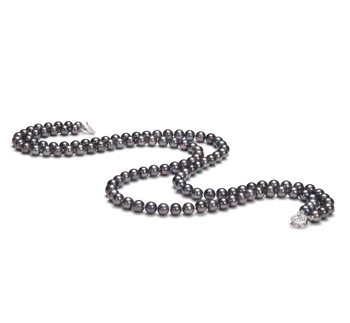 Alexandra Negro 6-7mm Calidad AA Collar de Perlas de Agua Dulce