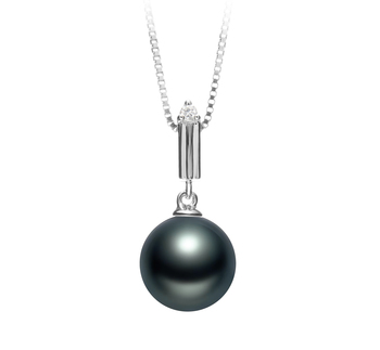 Aoife Negro 10-11mm Calidad AAA Colgante de Perla Tahití y Plata esterlina 925