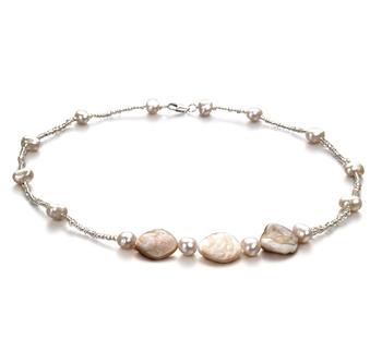 Ashley blanco Blanco 3.5-4mm Calidad A Collar de Perlas de Agua Dulce