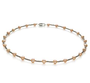 Atina Rosa 6-7mm Calidad A Collar de Perlas de Agua Dulce