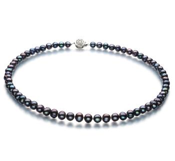 Bliss Negro 6-7mm Calidad A Collar de Perlas de Agua Dulce