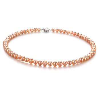 Bliss Rosa 6-7mm Calidad A Collar de Perlas de Agua Dulce