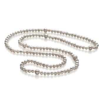 Chloe Blanco 6-11mm Calidad A Collar de Perlas de Agua Dulce y sin tipo de metal