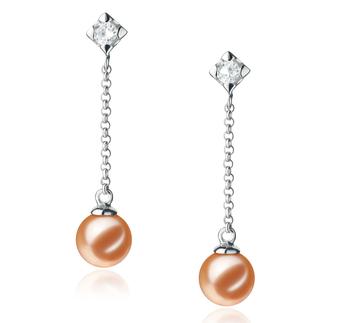 Ingrid Rosa 6-7mm Calidad AAAA Pendientes de Perlas de Agua Dulce y Plata esterlina 925