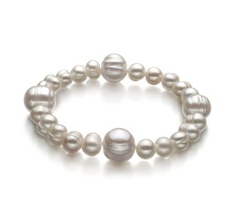 Irina Blanco 6-11mm Calidad A Pulsera de Perlas de Agua Dulce y sin tipo de metal