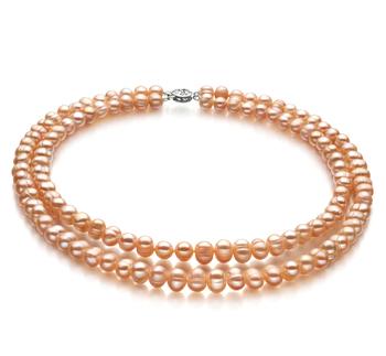 Jara Rosa 6-7mm Calidad A Collar de Perlas de Agua Dulce