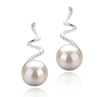 Lolita Blanco 8-9mm Calidad AAAA Pendientes de Perlas de Agua Dulce y Plata esterlina 925