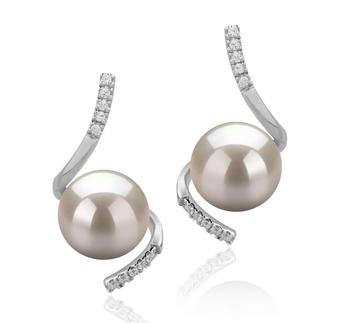 Mathilde Blanco 8-9mm Calidad AAAA Pendientes de Perlas de Agua Dulce y Plata esterlina 925