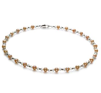 Paige Rosa 6-7mm Calidad A Collar de Perlas de Agua Dulce