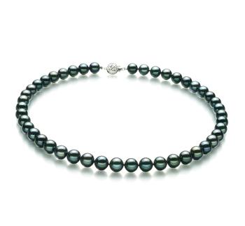 Negro 8.5-9mm Calidad AA Collar de Perlas Akoya Japonesa y Plata esterlina 925
