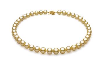 Oro 9.04-11.83mm Calidad AAA Collar de PerlasMar del Sur y Oro amarillo 14K