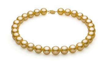 Oro 14-15.7mm Calidad AAA+ Collar de PerlasMar del Sur y Oro amarillo 14K