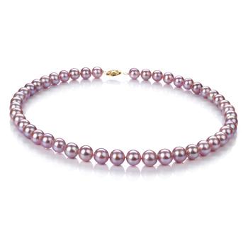 Lavanda 8.5-9mm Calidad AA Collar de Perlas de Agua Dulce