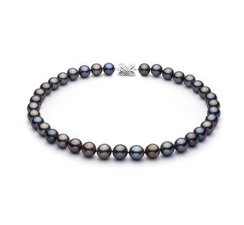 Multicolor 11.07-12.9mm Calidad AAA Collar de Perlas Tahití y Oro blanco 14K
