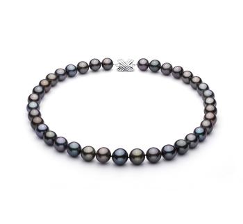 Multicolor 11.09-13.54mm Calidad AA+ Collar de Perlas Tahití y Oro blanco 14K