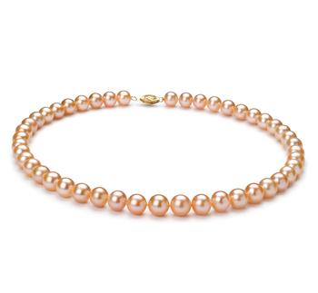 Rosa 8-9mm Calidad AA Collar de Perlas de Agua Dulce