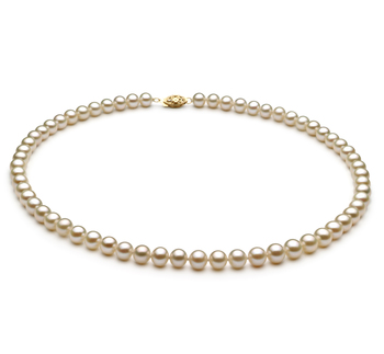 Blanco 6-7mm Calidad AA Collar de Perlas de Agua Dulce