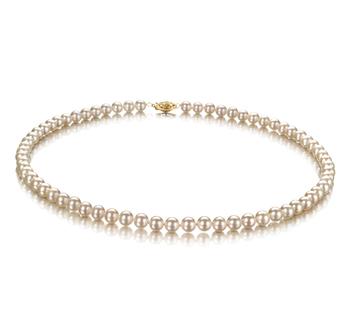 Blanco 5.5-6mm Calidad AAA Collar de Perlas de Agua Dulce