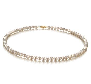 Blanco 5-5.5mm Calidad AA Collar de Perlas de Agua Dulce