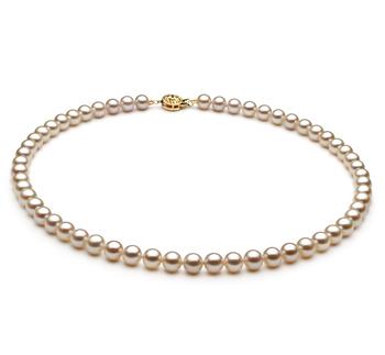 Blanco 6-7mm Calidad AAA Collar de Perlas de Agua Dulce