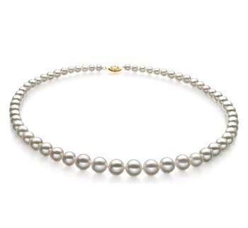 Blanco 5-10mm Calidad AAA Collar de Perlas de Agua Dulce y Lleno de oro