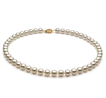 Blanco 7.5-8mm Calidad AAA Collar de Perlas Akoya Japonesa