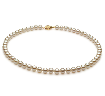 Blanco 6-7mm Calidad AA Collar de Perlas Akoya Japonesa