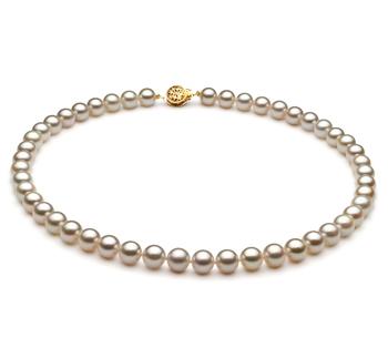 Blanco 7.5-8mm Calidad AA Collar de Perlas Akoya Japonesa