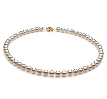Blanco 6.5-7mm Calidad AAA Collar de Perlas Akoya Japonesa
