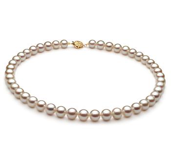 Blanco 8.5-9mm Calidad AA Collar de Perlas Akoya Japonesa