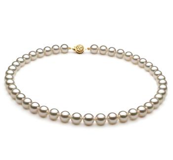 Blanco 8.5-9mm Calidad AAA Collar de Perlas Akoya Japonesa