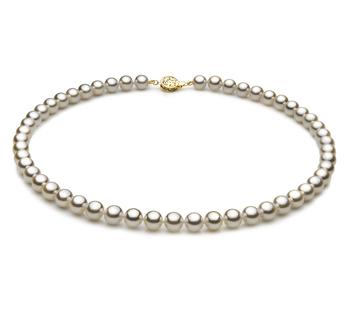 Blanco 7-7.5mm Calidad AAA Collar de Perlas Akoya Japonesa