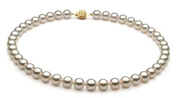 Blanco 8-8.5mm Calidad AAA Collar de Perlas Akoya Japonesa